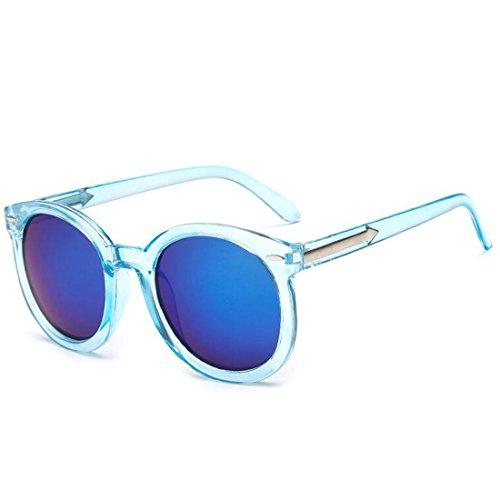 Frauen Vintage Skinny Narrow Frame Transparente Sonnenbrille Männer Frauen Vintage Spiegel Objektiv Nizza Geschenke Blau