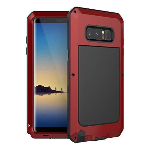 Beeasy Samsung Galaxy Note 8 Hülle,360 Grad Fallschutz Handyhülle Outdoor Case Hybrid Rüstung Schlagfest Stoßfest Schutzhülle Robust Cover Tough Armor Doppelte Schutzschicht Heavy Duty Kratzfest,Rot