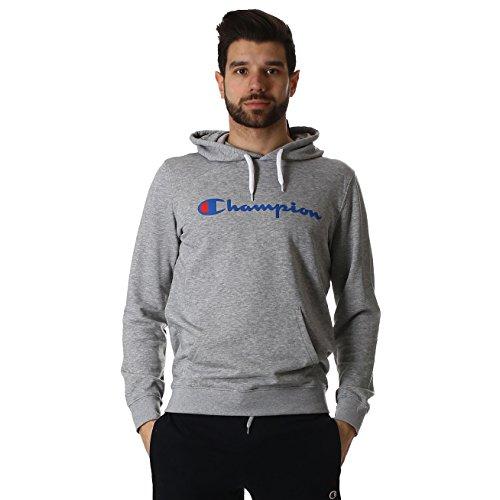 champion-sweatshirt-kapuze-herren-l-grau