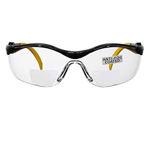 voltX GT Adjustable Bifokale Lesen Schutzbrille (KLAR +3.0 Dioptrie), CE EN166FT Zertifiziert, Anti-Beschlag Beschichtung. Bifocal Safety Glasses