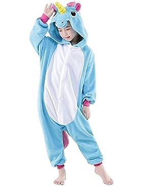 Cliont Niños Animal Licorne Pijamas Kigurumi Traje de noche Traje Anime Cosplay Regalo Unicornio Onesie