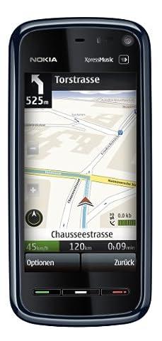 Nokia 5800 Smartphone (GPS, 3,2 MP, WLAN, MP3, Ovi Karten, KFZ-Halterung) blue