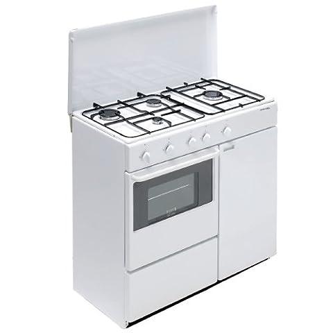 Bompani BI960YA/L Autonome Cuisinière à gaz Blanc four et cuisinière - fours et cuisinières (Autonome, Blanc, Rotatif, Devant, Cuisinière à gaz, Petite)