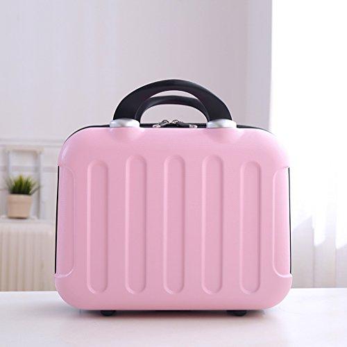 TaoMi Homw- Travel Cosmetic Case Box Grande capacité Multi-fonctionnel Simplicité Large Portable Professional Waterproof Lady Makeup ( Couleur : Rose )