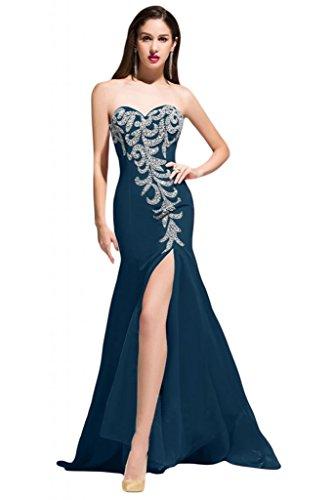 Sunvary taglio Slim della linea Sweetheart laterali per abiti da sera Pageant Gowns Importato da Regno Unito] Inchiostro blu