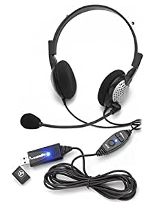 Andrea Electronics C1-1022500-1 model NC-185 VM High Fidelity Stereo PC Headset with Noise Canceling Microphone and Volume/Mute Controls (No USB)
