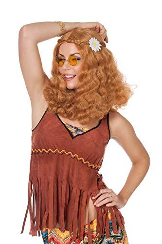 Perücke Hippieperücke Damen Langhaar Hippie Damenperücke