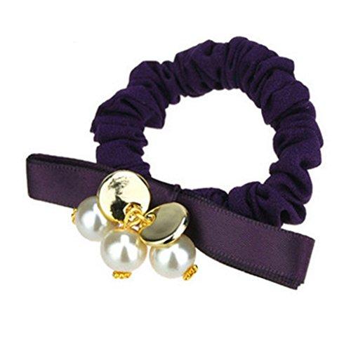 3PCS Femmes élastiques Elastiques Accessoires cheveux, Violet