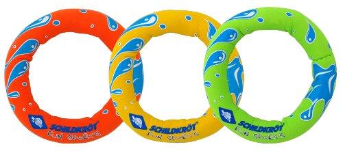 Schildkröt Neopren Diving Rings, 3 Tauchringe mit Sandfüllung, Ø 14cm, gut zu greifen, stehen am Grund, 970209