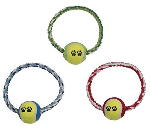 Hundespielzeug Ball & Frisbee von GYD Tennisball   Spielzeug für Hunde   Robuster Natur-Gummi Hundeball für Leckerli   Langlebiger Hundespielball   Auch für Welpen   Kauspielzeug Unkaputtbar   Spielzeug für Große & Kleine Hunde   Hunde-Frisbee