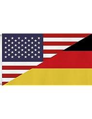 Fahne / Flagge mit zwei Metallösen zur Befestigung und zum Hissen - Größe 90 x 150 cm