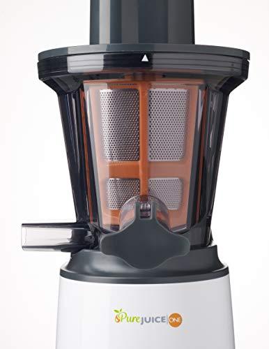 Kenwood JMP 400 WH - Exprimidor (Exprimidor lenta, Negro, Blanco, 55 RPM, 1,3 L, 1 L, 140 W)