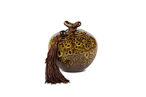MAOCI - Teedose/Zuckerdose Porzellan 300ml gelb-meliert