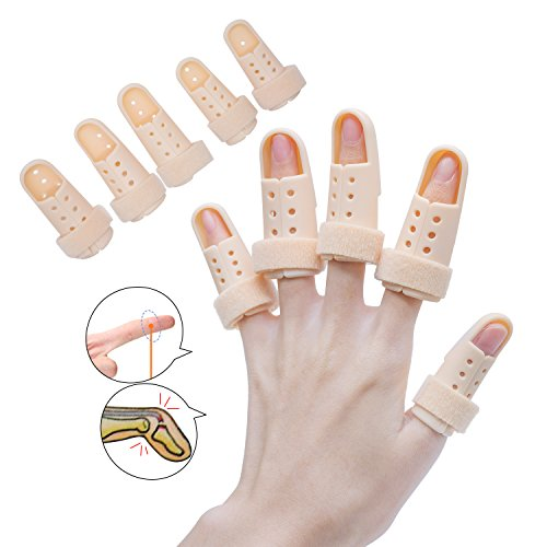 Mallet-fingerschiene (sumifun Fingerschiene Verlängerung für Trigger Finger, Brace Fingerschiene Mallet, Schaumstoff gefüttert, formbare Metallic Schiene aus, und Stabilisieren der Fractured)