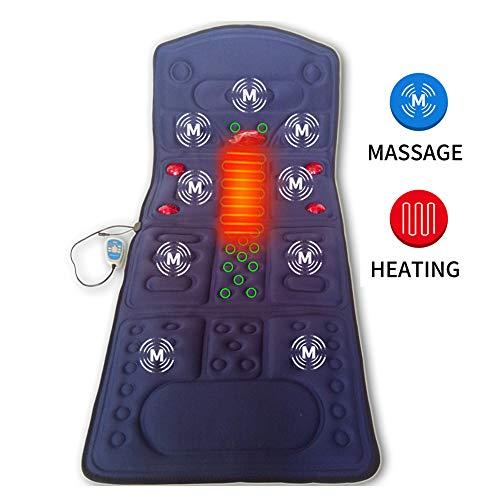 Massagegerät mit Wärme Multifunktionale Vibration Massage-Matratze Heizung Red Light Ganzkörper Beheizte Massage-Matte Ganzkörper-Massage-Matratze,B