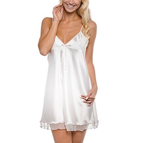 ANAIS – Nachthemd / Negligee / Nachtwäsche / Unterwäsche aus der Sophie Bernard Kollektion. Fühl dich wohl! M-Größe / weiß (ecru hell) (Unterwäsche Nachtwäsche)