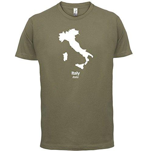 Italy / Italien Silhouette - Herren T-Shirt - 13 Farben Khaki