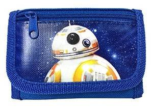 New Disney Star Wars The Force Awaken New Robot BB-8 Tri Fold Wallet - Blue by Disney