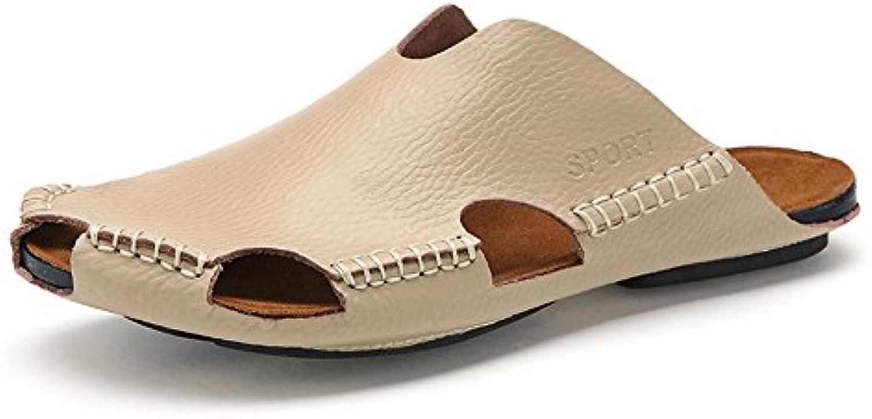 Melodycp Sandale Sandale Leder und Sandale Toe Sand im Sommer für Männer (24  27 cm)  Hausschuhe Freizeit für