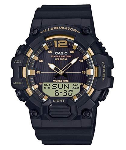 casio orologio multi-quadrante quarzo uomo con cinturino in resina hdc-700-9avef