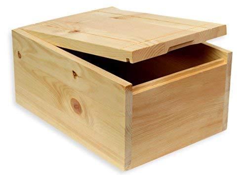 Boîte à pain en bois de pin - avec planche à découper amovible - Fabriqué en Autriche