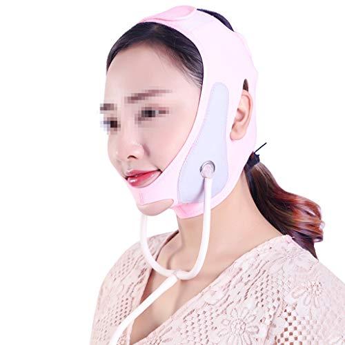 WYNZYSLBD Aufblasbare Facelifting-Maske, Kleine V-Gesichts-Aufkleber-Aufzug-Zug-Form-Muskeln, Die Haut-Doppelkinnverband-Rosa Straffen