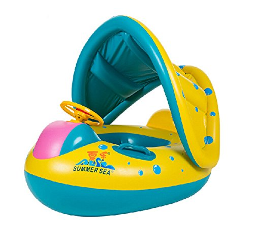 fletion-baby-swimming-boat-children-inflatable-swim-ring-baby-floating-ring-with-sunroof