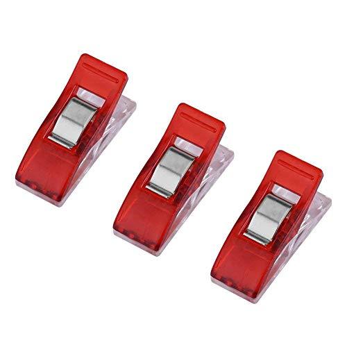 4 Farben 20 Stück/Pack Wonder Clip zum Quilten Nähen Stricken Stoff Binding Klammern rot