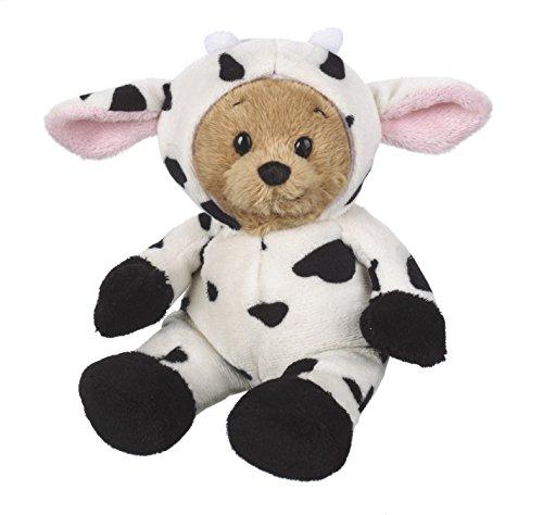 Ganz 6 Wee Bear, Cow, Knit Plush - Ganz Wee Bear