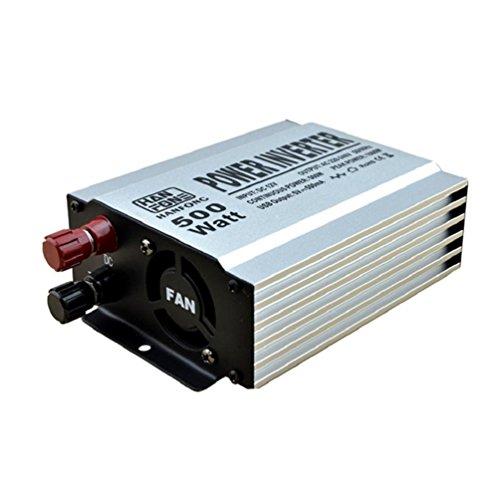 Power Konverter Inverter Wechselrichter Power Inverter 500W DC 12V auf AC 220V USB Netzteil Outdoor Notfall (Silber) (Starter-pumpe Jump)