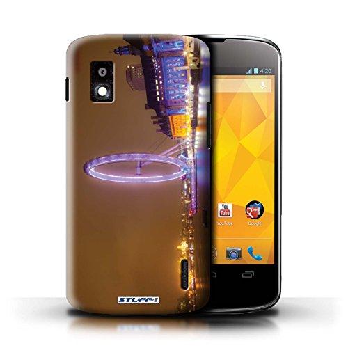 Kobalt® Imprimé Etui / Coque pour LG Nexus 4/E960 / Tower Bridge conception / Série Londres Angleterre London Eye