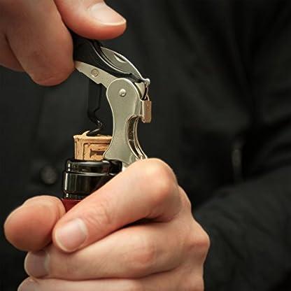 Oaoa-Design-SMARTPULL-bester-Korkenzieher-mit-doppeltem-Hebel-klimaneutral-Kellnerkorkenzieher-Kellnermesser-Weinffner-inkl-Folienschneider-Kapselheber-und-mit-Teflon-beschichteter-extralangen-Spirale
