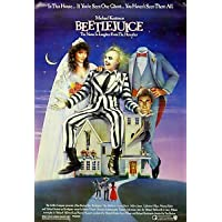 """""""BEETLEJUICE"""" - Michael Keaton - Classic 1988 Fantasy Movie Poster - Poster Size : Super A2"""