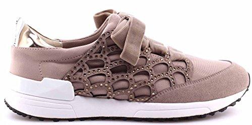 Chaussures Sneakers Femmes LIU JO Tortora Sneaker Aura Strass Nouveau