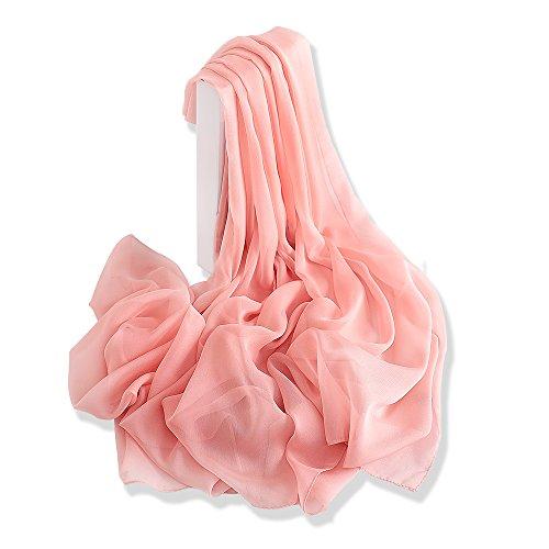 YFZYT Sommerschals Damen Mode weichen Schal Schal Hals Wrap Kopftuch Stola, Anti-UV Feder Stickerei...