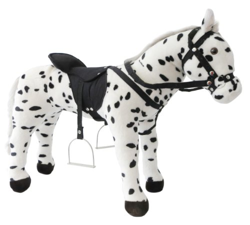 Heunec 723771  - puntos de pie blanco y negro de caballos con sonido 100 kg Capacidad de carga [importado de Alemania]