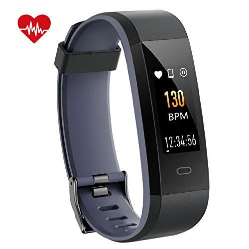 VicTsing Fitness Armband Activitätstracker IP68 wasserdicht Smart-Armband Schrittzähler Pulsmesser Kalorienzähler Schlaf-Monitor mit 14 Sport-Modi Farbdisplay Schwarz