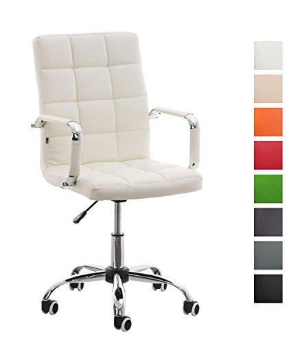 CLP Comoda sedia da ufficio DELI V2 con imbottitura di altissima qualità, altezza seduta 45 - 54 cm, fino a 8 colori a scelta bianco