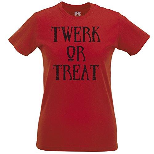 lloween Scary Partei-Kostüm Lustige Erwachsene Trick Frauen T-Shirt (12 Tage Von Halloween-musik)