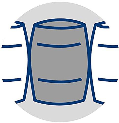 Badenia 03888360235 Irisette Bettcomfort Matratze Lotus, Tonnentaschenfederkern Polyester, 210 x 100 x 20 cm, weiß -