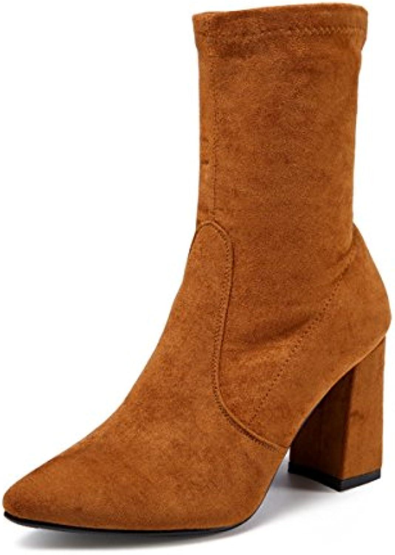 5029000e14f651 hbdlh chaussures da a / / / hiver plein 9cm talons hauts tube bottes en  daim suture simple voiture dure et bottes mode...b07fc31ct5 parent | De  Qualité ...