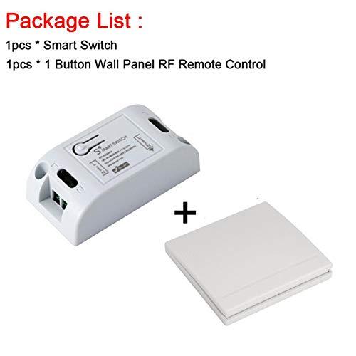 Mirabellini RF WiFi Wireless Smart Switch mit 433 MHz RF-Empfänger-Modul-Fernbedienung Smart Timing-Schalter Kompatibel mit Alexa, Google Home