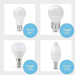 Panorama24 LED E27, 7 W mit einer Leuchtkraft von 40 W, kaltweiß (6000 K), Birnenform, 650 lm, 270 ° Abstrahlwinkel, Glühbirne, Birne, Halogen, Lampe