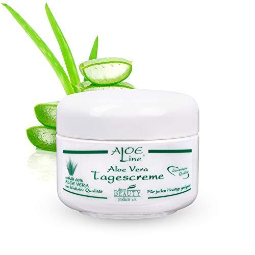 Aloe Vera Tagescreme - vitalisiert & schützt die Haut mit LFS 6 - enthält 60% Aloe Vera,...