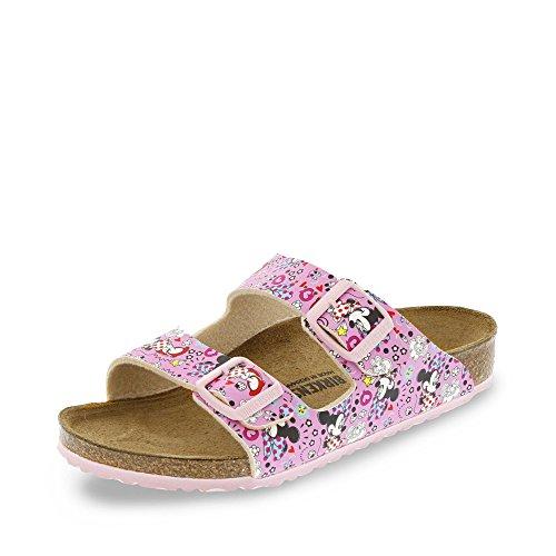 BIRKENSTOCK 1004340 Arizona Mädchen Pantolette Textilinnenfutter Korkfußbett, Groesse 32, Rosa (Birkenstock Größe 32)