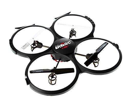 Preisvergleich Produktbild UDI 818A HD + RC Quadrocopter-Drohne mit HD-Kamera, automatischer Rückholfunktion und DCM-Modus - 2,4GHz 4-Kanal 6-Achsen Gyro RTF - inklusive BONUS-BATTERIE + POWERBANK (*vervierfachte Flugzeit*)