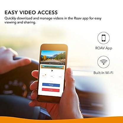 Roav-DashCam-C2-Pro-mit-FHD-1080p-Auflsung-Weitwinkelobjektiv-fr-4-Spuren-App-32GB-microSD-Speicherkarte-inklusive