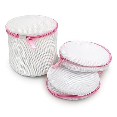 Clairty Soutien-gorge à laver Sac à linge Sac de lavage pour lingerie Sous-vêtements, linge délicat, Chaussettes, Lot de 3