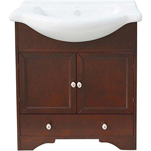 Mobile bagno con lavello integrato monique lxhxp 75x84x50 cm legno arte povera
