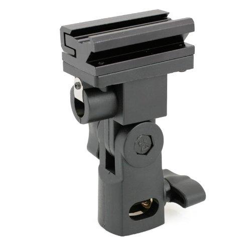 Quenox FU-SOB Blitzneiger für Standard ISO Aufsteckblitz an Lampenstativ mit 5/8 Zoll Spigot - mit mit Schirmhalterung für Reflexschirm oder Durchlichtschirm (made by JJC)